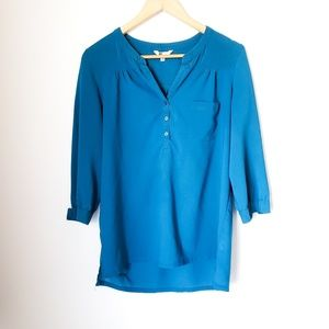 Kut from the Kloth | Turquoise Blouse 3/4 Sleeve